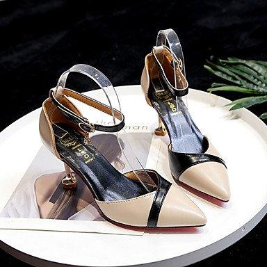 Heel Talons Confort LvYuan Noir Légères beige Semelles ggx Polyuréthane Boucle Beige5 Kitten Chaussures Eté 7 Semelles Habillé Femme Légères à Confort à FIpFa