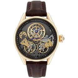 Rougois Men's Rose Gold Regal Double Escapement Automatic Watch RS8390G