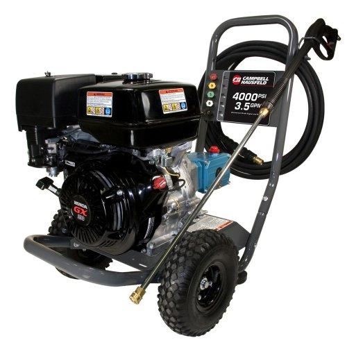 Campbell Hausfeld Pressure Washer, 4000 PSI 3.5GPM Triplex Pump GX390 Honda PW4070