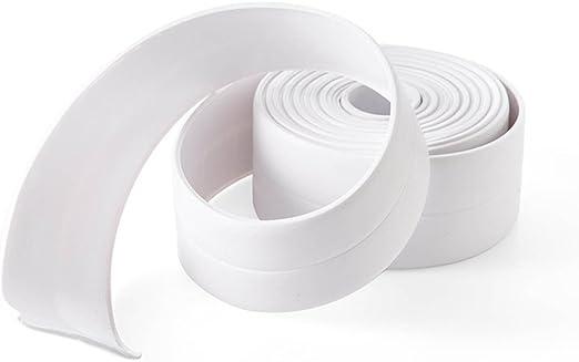 Gebildet 2 St/ücke PVC Bad Versiegelungsmittel Tape K/üche Herd Spaltdichtungen Acryl Abdichtungsband Wand Dichtungsband Wasserdicht Band 5CM /× 3M, Transparent