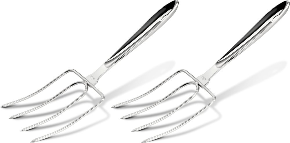 All-Clad T167 Stainless Steel Turkey Forks Set, 2-Piece, Silver by All-Clad