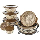 K26509 Temp-tations Old World 13pc. Complete Meal Oven-to-Table Set BROWN
