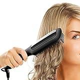 Hair Straightening Brush, GLAMFIELDS Electrical Heated Brush Irons Hair Straightener with easy hlod