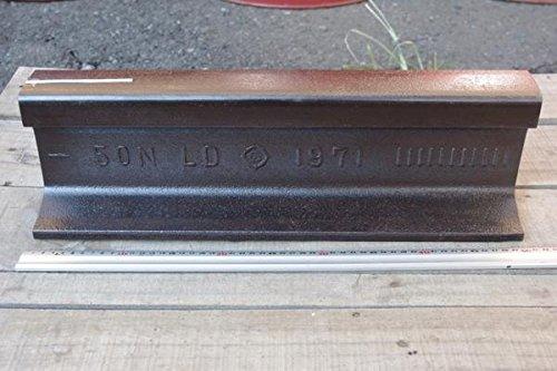 国鉄・JR使用、50kgN鉄道レール刻印付 50cm切断