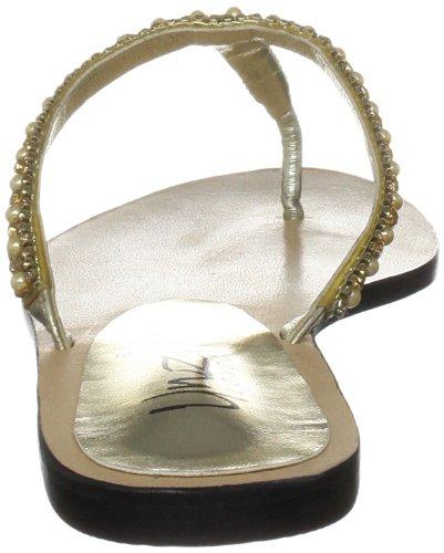 Unze Evening Slippers, Damen Slipper Gold (L18337W)