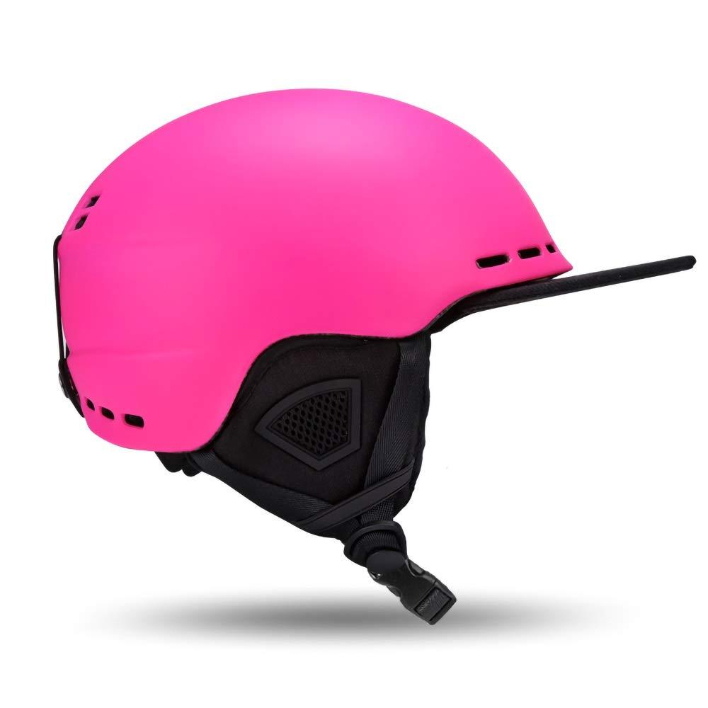 Bert100 子供の安全ヘルメット保護子供の安全自転車ヘルメットスケートスケートボードスキースポーツ調節可能な快適さ汗 うまく設計された  Pink B07R2H9YXN