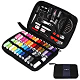 #5: TUXWANG Sewing Kit 90pcs Premium Sewing Accessories and Carrying Case for Home, DIY, Beginners, Traveler, Emergency with Scissors, Thimble, Thread (24 Spools), Needles(30pcs), Tape Measure, and More