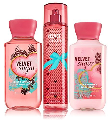 Bath & Body Works Velvet Sugar Gift Set - All New Daily Trio ()