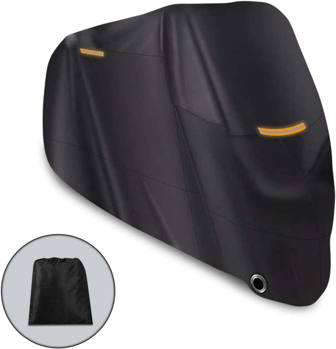 Riider Original Premium Quality Outdoor Waterproof Motorcycle Cover Heavy Duty Durable Thick 210D Fabric Motorbike Cover All Season Anti UV Scratch Heat-Resistant Outdoor Protection 104x41x50 inch
