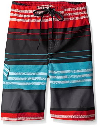 Kanu Surf Boys' Halo Stripe Swim Trunk