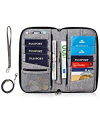 BIGIGHT - portafolios de viaje y organizador de documentos para pasaporte familiar