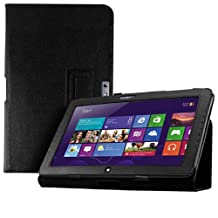 kwmobile Elegant synthetic leather case for Samsung Ativ Smart PC 500T in black with convenient STAND FEATURE