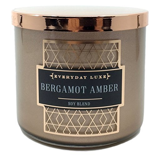 Everyday Luxe Bergamot Amber Scented 3 Wick Candle by Everyday