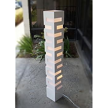 new plain white handmade modern wooden floor lamp zk008l art decor design lighting for living room family room bedroom led bulb prefered