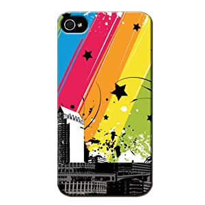Jigga City Scratch-free Black Cover Case For Iphone 4s