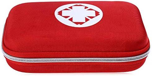 Mini-Erste-Hilfe-Set für Reisen, Zuhause, Büro, Fahrzeug, Camping, Arbeitsplatz und Outdoor (rot)