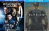Ender's Game & ELYSIUM Steelbook Sci-Fi Blu Ray Space Thriller Action Space Movie Set
