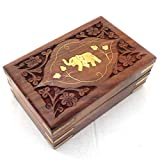 Best IndiaBigShop Carving Woods - Womens Day Special Gift Wooden jewelry box, Single Review
