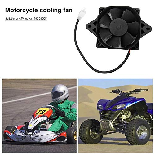 Fincos Oil Cooler Water Cooler Electric Radiator Cooling Fan for 200 250 cc Chinese ATV Quad Go Kart Buggy Dirt Bike Motorcycle