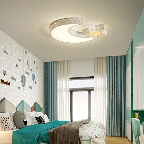 SET Tischlampe-Led-Leuchten Kinderzimmer Schlafzimmer Zimmer sind Licht und warm Jungen und Mädchen Prinzessin Lampen kreative Deckenleuchte,Weiß (Durchmesser 68 groß- keine Polarität dimmbar 40W