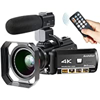 Ansteker HDC-107 4K Ultra HD Flash Memory SDXC/SDHC/SD Wi-Fi Camcorder with 30x Optical Zoom & 3