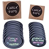 'Chalk Tops - Reusable Chalkboard Lids for Mason Jars - 16 Pack COMBO' from the web at 'https://images-na.ssl-images-amazon.com/images/I/5132yD4-gCL._AC_SR160,160_.jpg'