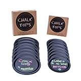 Complete Chalkboard Lids Specifically Designed For Mason Jars  • Chalk Tops are the only ready-made complete chalkboard lids designed specifically for mason jars  • No need to purchase sticker labels and new lids separately  • No need to use ...
