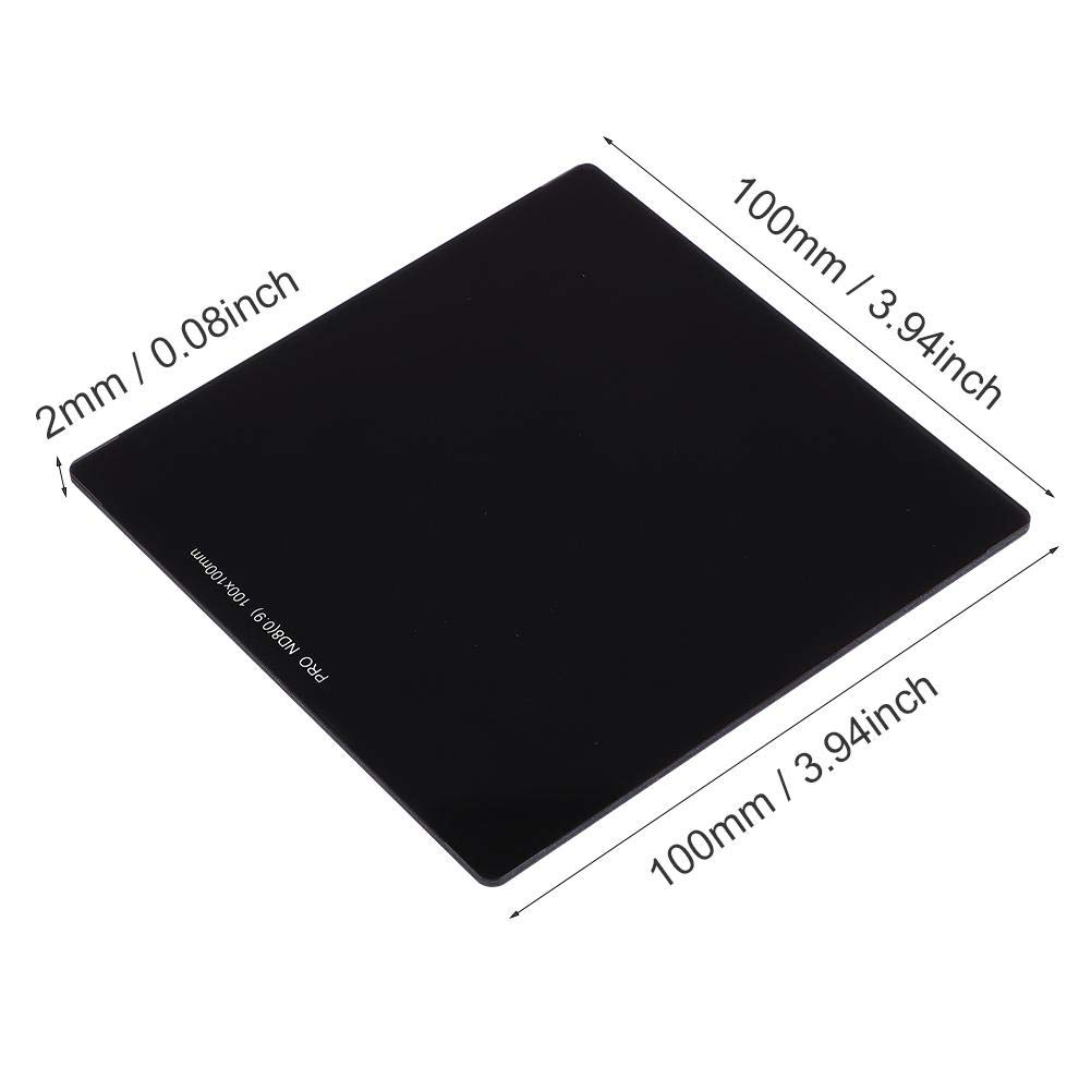 Topiky 100 100 ND8 2.0 mm de Vidrio /óptico de Densidad Neutra a Todo Color ND8 ND64 Filtro Cuadrado con 20 Capas de Doble Cara Nano-Coat Impermeable para fotograf/ía
