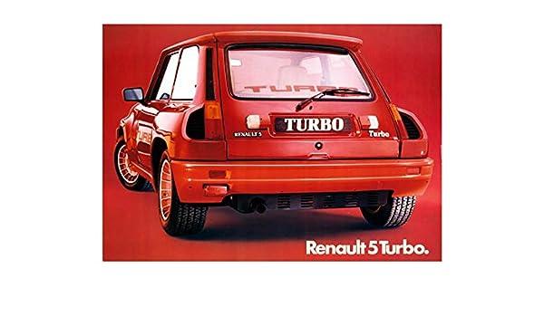 Amazon.com: 1980 ? Renault 5 Turbo Factory Photo: Entertainment Collectibles