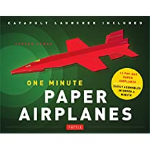One Minute Paper Airplanes Kit: 12 Pop-Out Planes, Easily Assembled in Under a Minute: Paper Airplane Book with Paper, 12 Projects & Plane Launcher