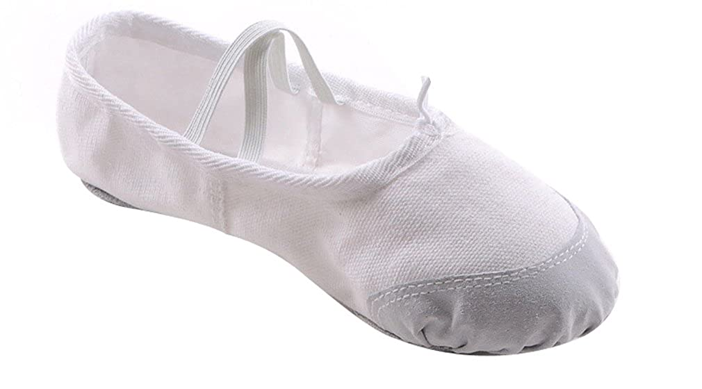 ACVIP Kid Dance Ballet Soft Shoes White Color