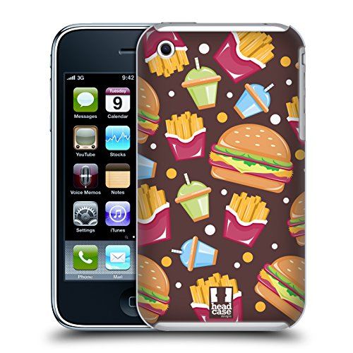 Head Case Designs Burger Delizie Cover Retro Rigida per Apple iPhone 3G / 3GS