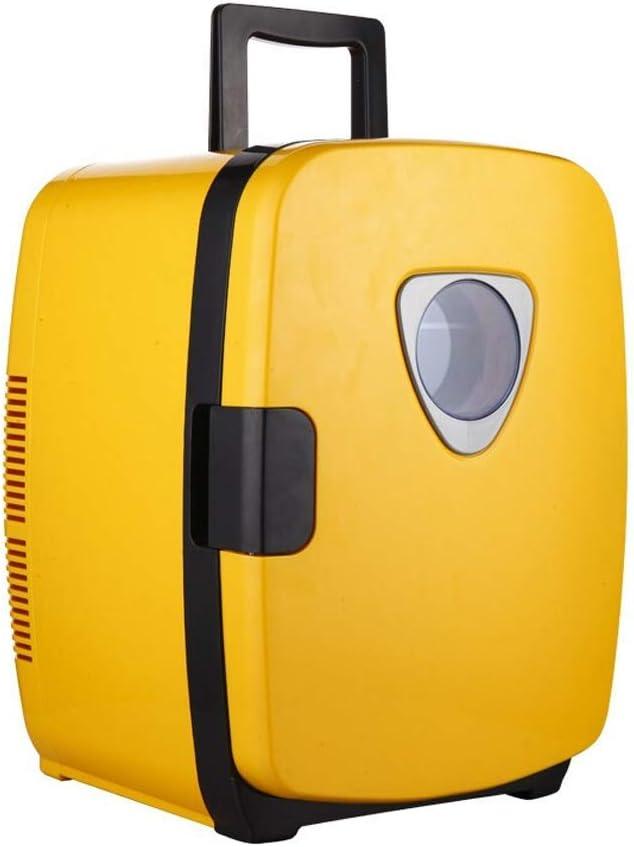 ICE 20リットル車用冷蔵庫ポータブルミニ冷蔵庫冷却および加熱ボックス車/家族/寮用デュアルコア12V / 220Vハンドル付き、黄色