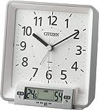 CITIZEN デジタル温湿度計付目覚し時計 ナビゲートケア シルバー色 8REA25-019