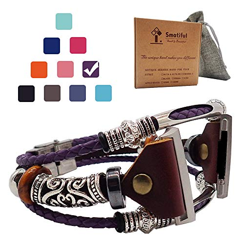 Smatiful Fashion Ionic Bands with Box Pack for Girl, Adjustable Accessories Watch Band for Fitbit Ionic, Lavender Purple ()