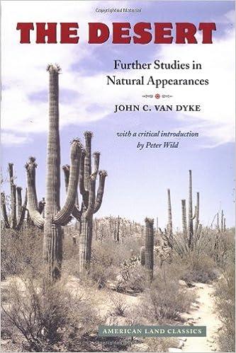 The Desert: Further Studies In Natural Appearances (American Land Classics) Ebook Rar