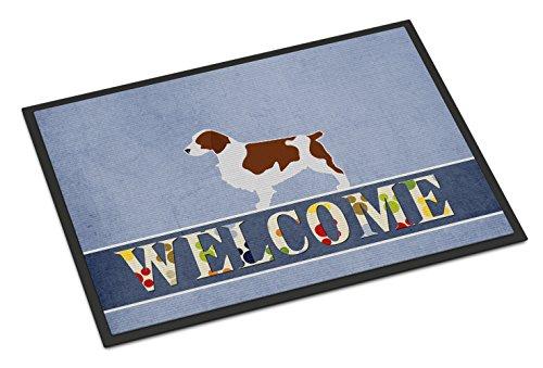 Caroline's Treasures BB5504JMAT Welsh Springer Spaniel Welcome Doormat, 24 x 36, Multicolor
