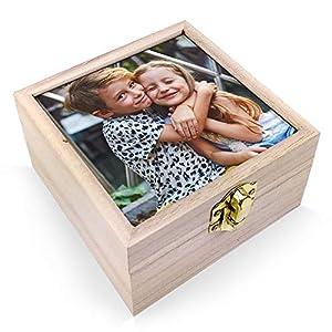 Lolapix Cajas de Madera Personalizadas con Foto, Texto o Imagen, Original y Exclusivo. Varios Modelos Disponibles. 8