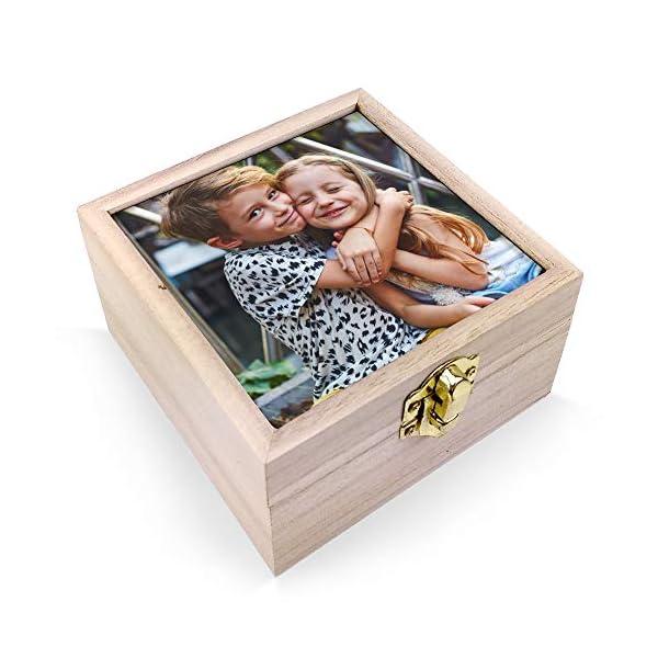 LolaPix Estuche de Madera portalápices Personalizado con Foto, Texto o Imagen, Original y Exclusivo. Varios Modelos… 2