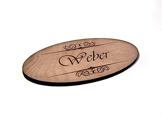 PISDEZ Weber - Placa para el Nombre, Cartel para el hogar ...