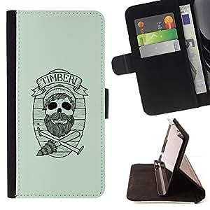 Momo Phone Case / Flip Funda de Cuero Case Cover - Maderas del inconformista cráneo;;;;;;;; - Samsung Galaxy S6 Active G890A