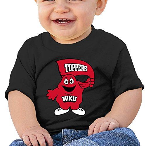 ElishaJ Newborn Babys Unisex Western Kentucky University T-srhits 6 M Black