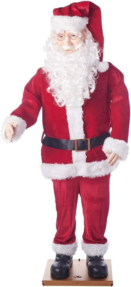 Holiday Time 5.8ft Dancing Santa Claus Animated - Life Size Singing