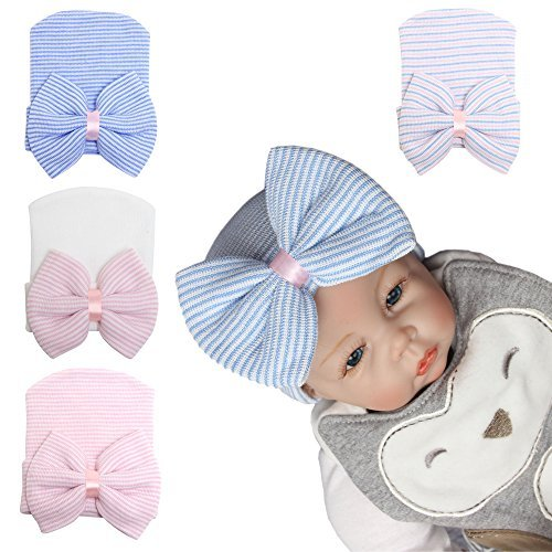 Upeilxd Baby Girl Hats Infant Turban Kids Knot Wrap Hat Newborn Hospital Hat Children Bow Cap