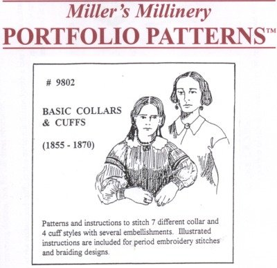 Victorian Sewing Patterns- Dress, Blouse, Hat, Coat, Mens 1855-1870 Basic Collars and Cuffs Pattern $15.95 AT vintagedancer.com