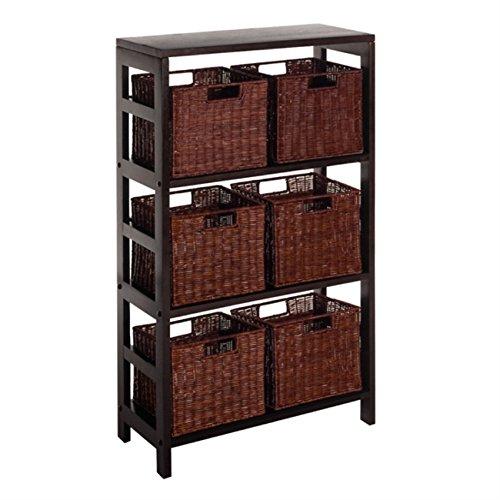 Leo 7pc Shelf and Baskets; one shelf, 6 small baskets; 3 cartons by Ergode