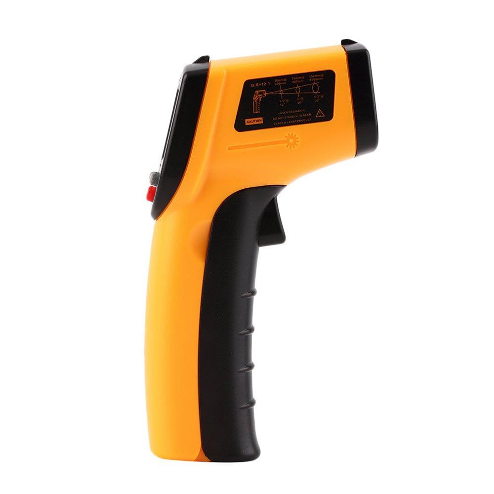 1 Tester di temperatura a pirometro Display LCD con retroilluminazione Vislone Termometro a infrarossi 50~380 /° C Termometro a infrarossi a infrarossi IR non a contatto da 12