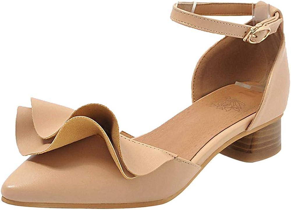 BeiaMina Women Fashion Low Heel Sandals Ankle Strap