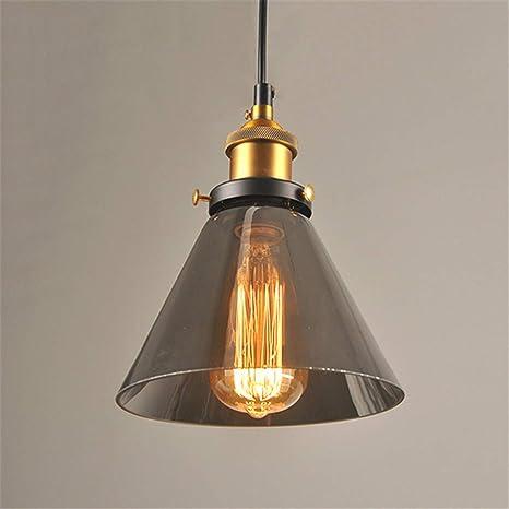 Amazon.com: Lámpara de techo vintage con colgante de cristal ...