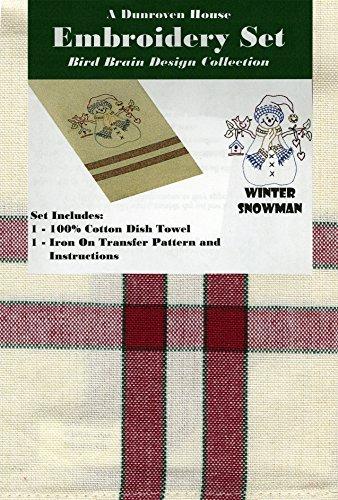 Dunroven Winter Snowman Bird Brain Design Collection Embr...